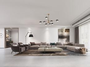 简约 别墅 现代 客厅图片来自山水装饰在合肥益力檀宫别墅装修现代风格的分享
