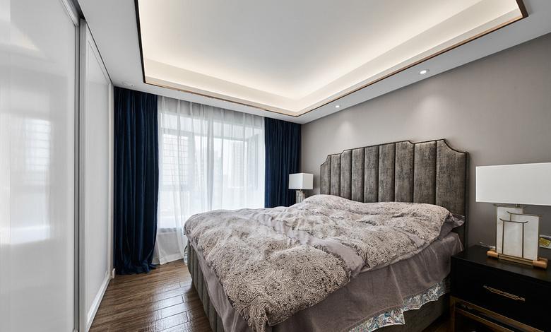 卧室图片来自家装大管家在浓淡两相宜 180平轻奢新中式3居的分享