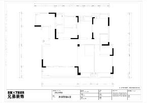 现代 黑白 装修 户型图图片来自重庆兄弟装饰黄妃在158㎡华润二十四城装修效果图的分享