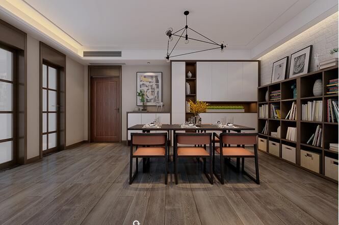 简约 二居 旧房改造 餐厅图片来自山水装饰在太湖新村89平新房装修的分享