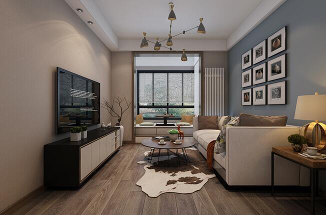 简约 二居 旧房改造 客厅图片来自山水装饰在太湖新村89平新房装修的分享