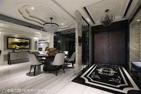 装修设计 装修完成 新古典 餐厅图片来自幸福空间在380平,磅礡大气  新古典奢华宅的分享