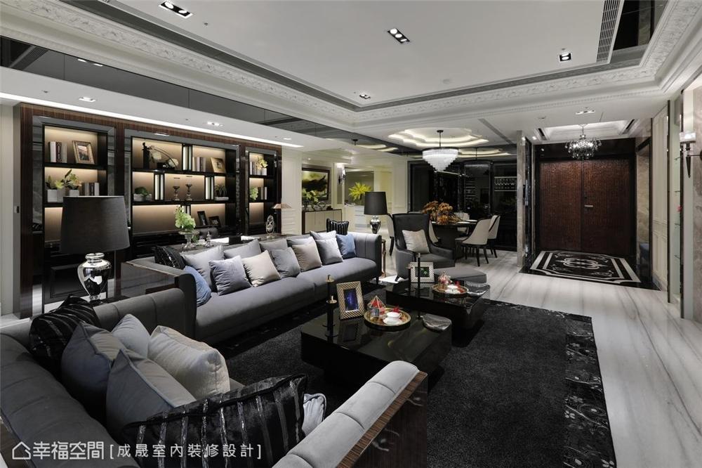 装修设计 装修完成 新古典 客厅图片来自幸福空间在380平,磅礡大气  新古典奢华宅的分享