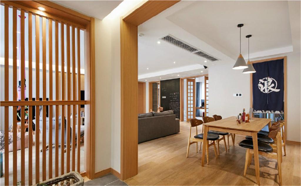 简约 日式 原木色 三居 白领 收纳 旧房改造 80后 小资 餐厅图片来自北京今朝装饰在原木的清新淡雅贯穿全屋的分享