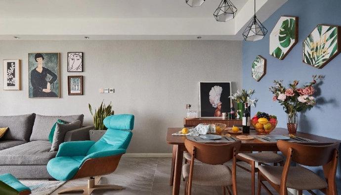 欧式 二居 白领 收纳 旧房改造 80后 小资 简约 客厅图片来自北京今朝装饰在85㎡北欧混搭风家居装修的分享