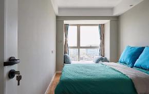 欧式 二居 白领 收纳 旧房改造 80后 小资 简约 卧室图片来自北京今朝装饰在85㎡北欧混搭风家居装修的分享