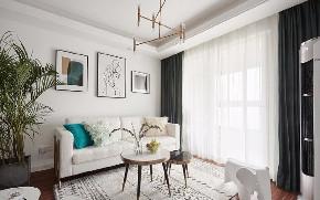 混搭 三居 白领 收纳 旧房改造 80后 小资 客厅图片来自北京今朝装饰在美式与北欧混搭出的小清新之家的分享