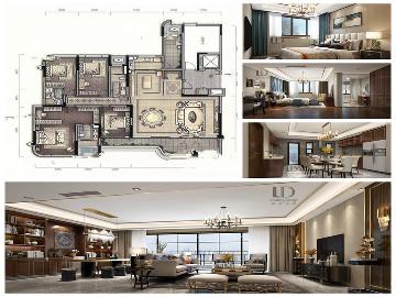 龙湖舜山府大平层设计185平洋房