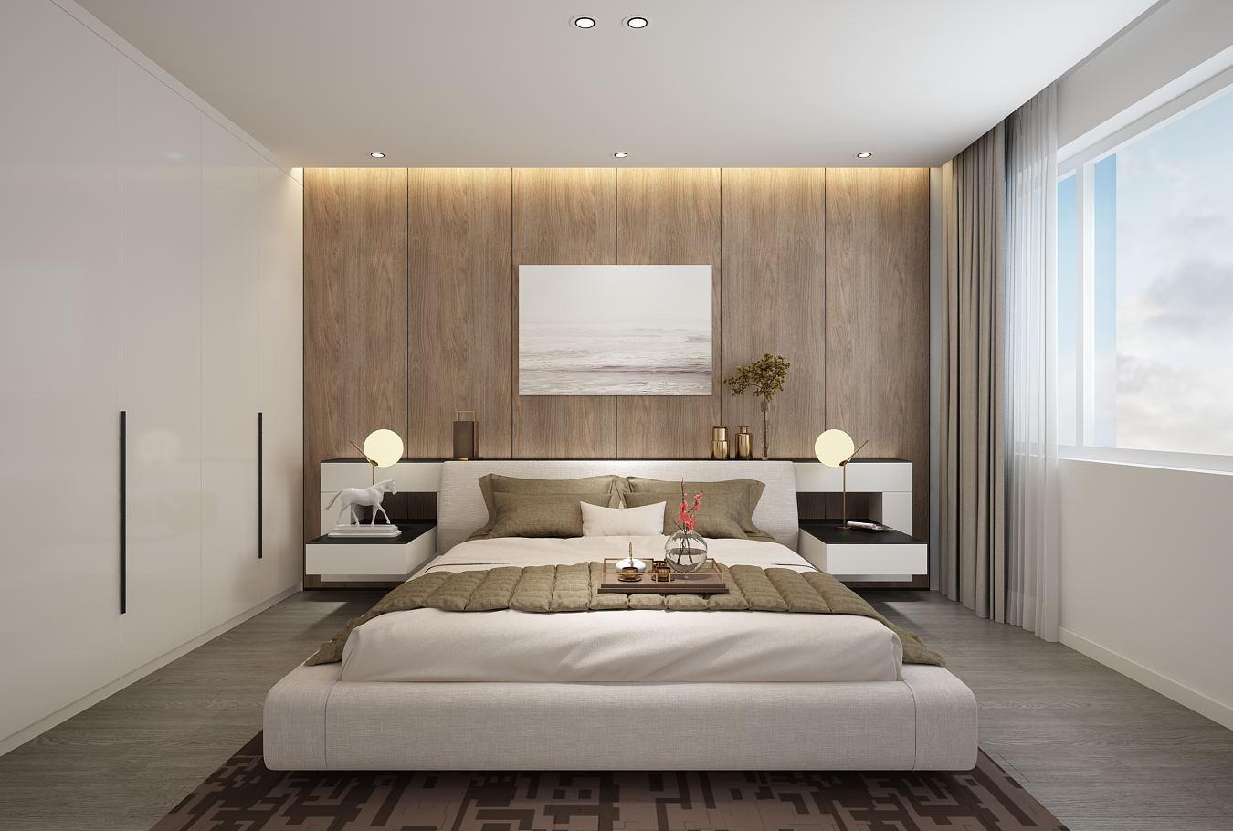 简约 三居 白领 80后 卧室图片来自山东济南尚舍别墅装饰在邦泰绿苑的分享