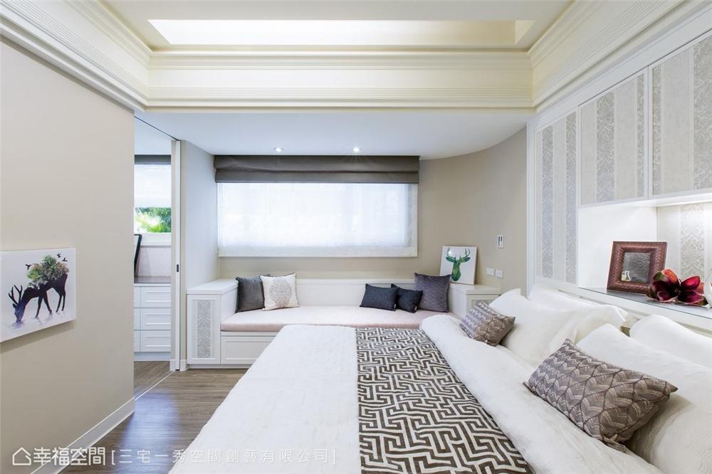 装修设计 装修完成 新古典 卧室图片来自幸福空间在132平, 酝酿温馨生活幸福居的分享