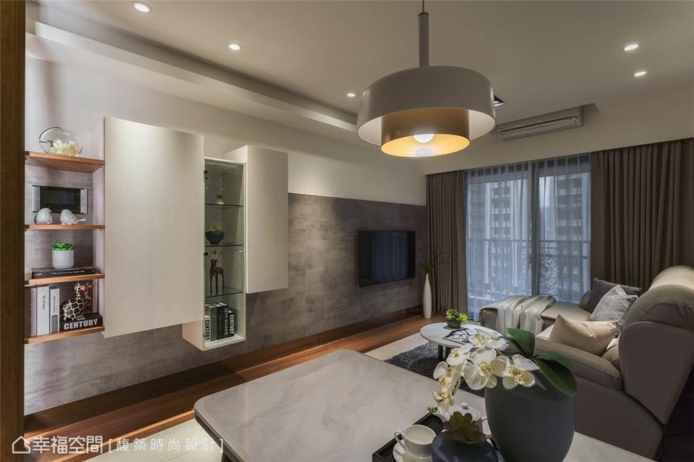 装修设计 装修完成 现代风格 客厅图片来自幸福空间在56平,时尚构型 演绎简约现代宅的分享