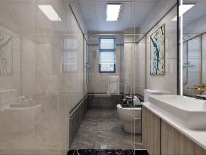 现代美式 西安装修 复式 装修公司 小资 卫生间图片来自西安城市人家装饰王凯在138平美式,一见倾心 自由灵动的分享