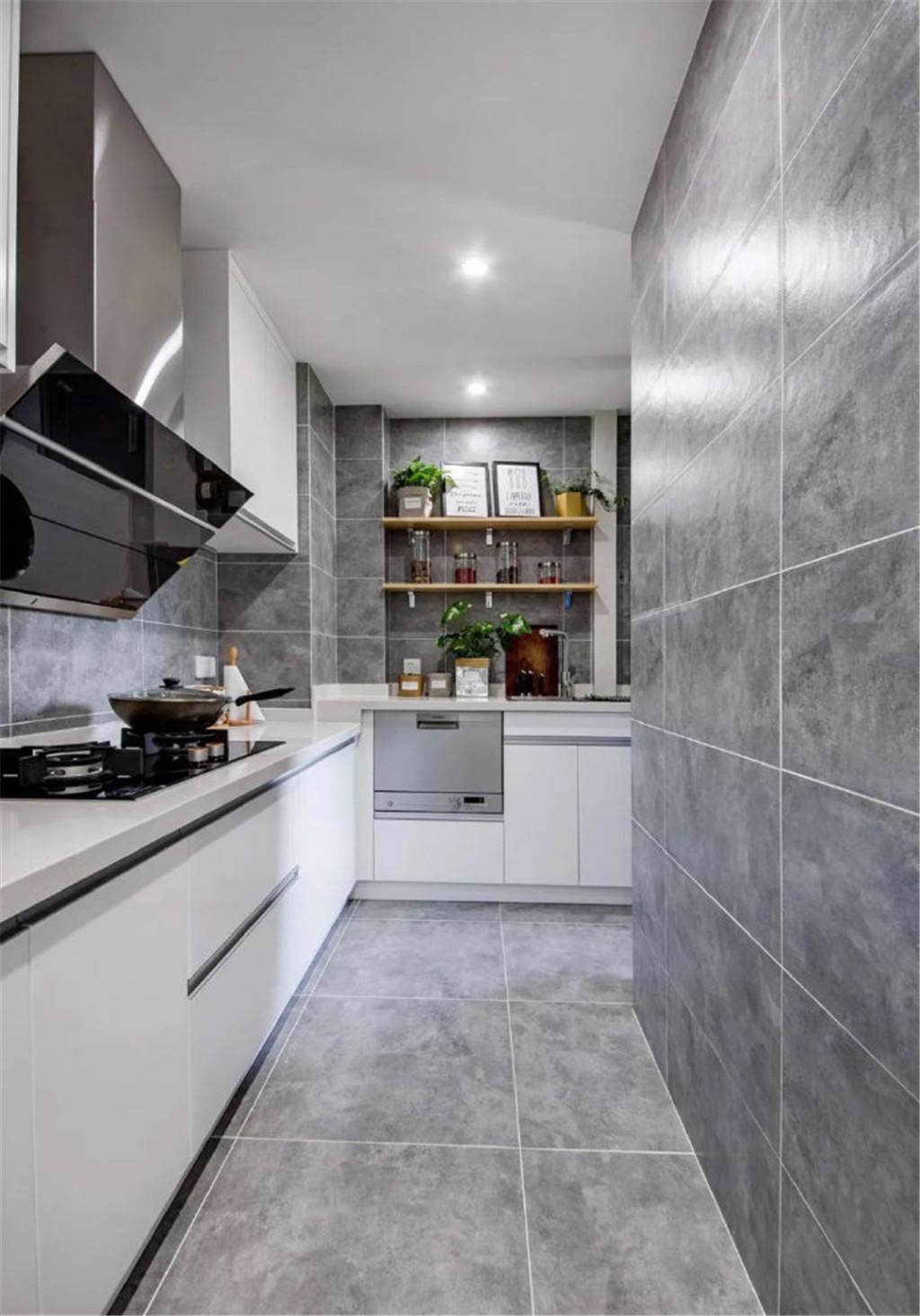 欧式 二居 白领 收纳 旧房改造 80后 小资 厨房图片来自北京今朝装饰在70㎡北欧风时尚自然的蓝灰的分享