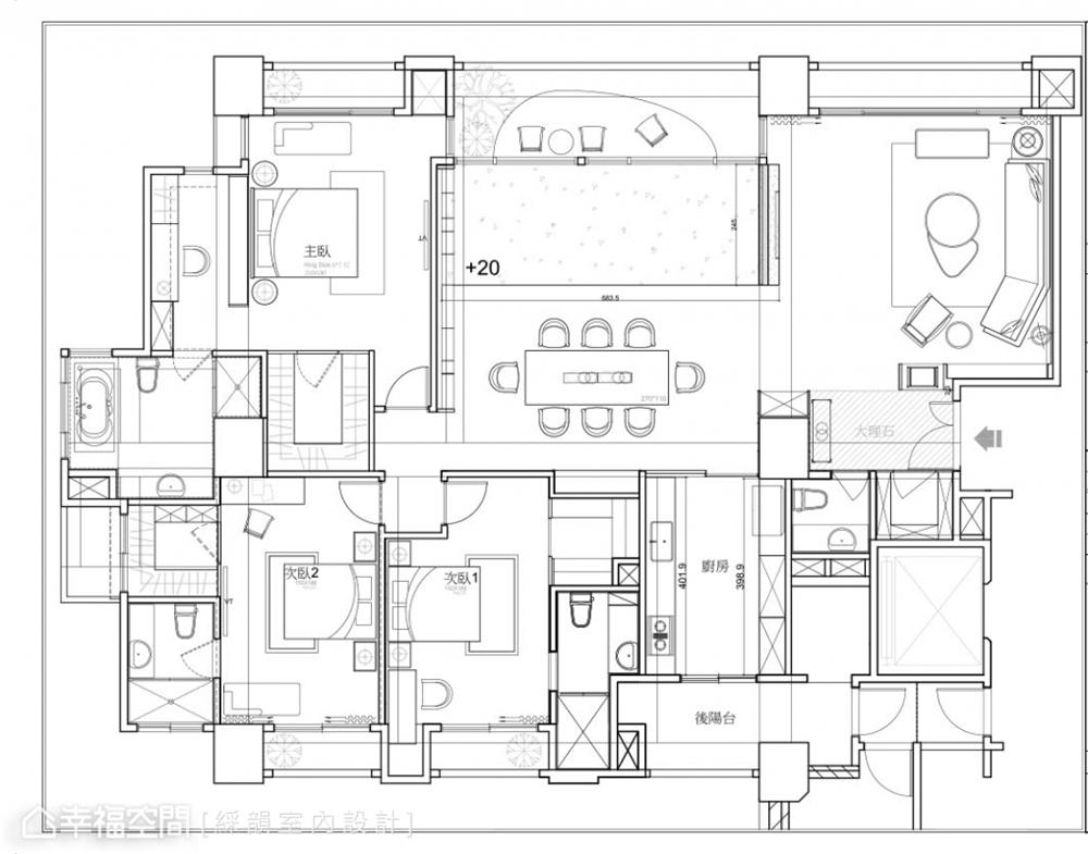 装修设计 装修完成 现代风格 古典风格 户型图图片来自幸福空间在331平,真实的生活感 精品空间的分享