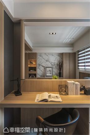 装修设计 装修完成 休闲多元 书房图片来自幸福空间在159平,自然系木质休闲宅的分享