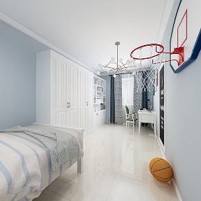 装修设计师 简约美式 徐春龙 儿童房图片来自徐春龙设计师在百旺家园的分享