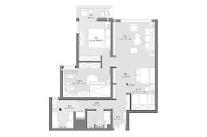 二居 三居 收纳 旧房改造 北欧 久栖设计 家装设计 两居改三居 户型图图片来自久栖设计在三段式8m储物长条客厅高效利用法的分享