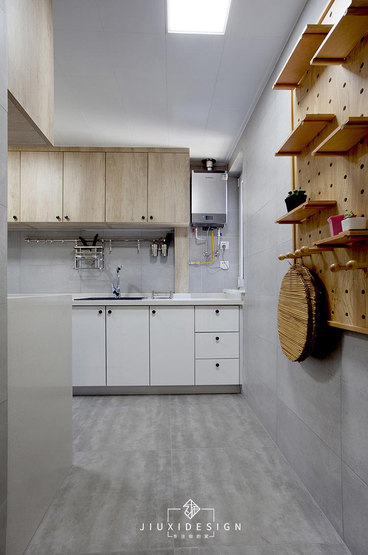 二居 三居 收纳 旧房改造 北欧 久栖设计 家装设计 两居改三居 厨房图片来自久栖设计在三段式8m储物长条客厅高效利用法的分享