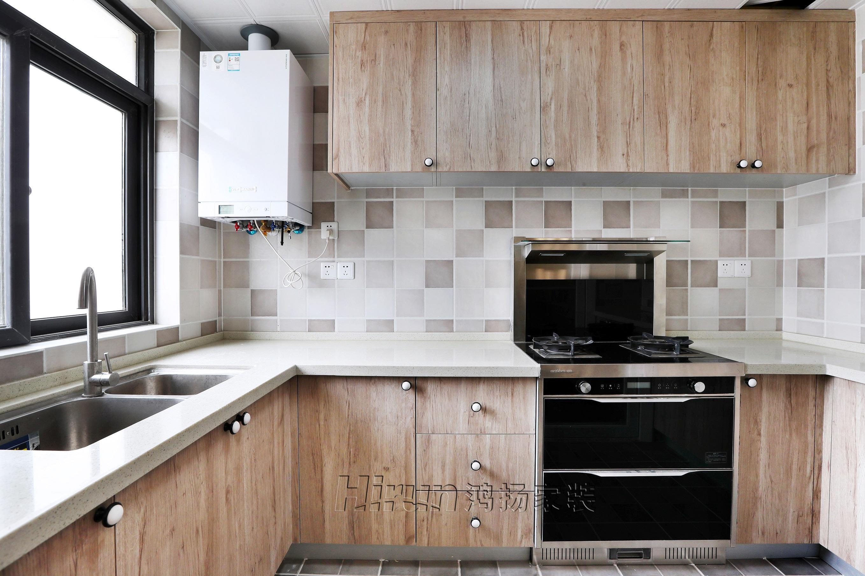 简约 混搭 三居 收纳 厨房图片来自鸿扬家装武汉分公司在同安花园110平美洲阳光的分享