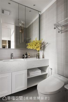 装修设计 装修完成 新古典 卫生间图片来自幸福空间在56平,纯净隽雅 新古典美学的分享