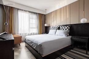 卧室图片来自鸿扬家装武汉分公司在万科翡翠国际140雅致灰调的分享