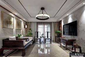 收纳 小资 客厅图片来自鸿扬家装武汉分公司在名邸公馆180平写意木构的分享