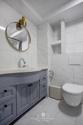 二居 三居 收纳 旧房改造 北欧 久栖设计 家装设计 两居改三居 卫生间图片来自久栖设计在三段式8m储物长条客厅高效利用法的分享