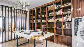 简约 现代 小资 收纳 四室 书房图片来自兄弟装饰-蒋林明在万科悦湾大平层设计,200平完工图的分享