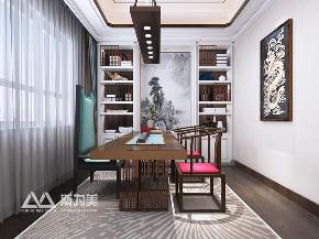 别墅 新中式 斯为美装饰 书房图片来自银川斯为美装饰在斯为美装饰 玺云台300平的分享