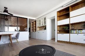 二居 三居 收纳 旧房改造 北欧 久栖设计 家装设计 两居改三居 客厅图片来自久栖设计在三段式8m储物长条客厅高效利用法的分享