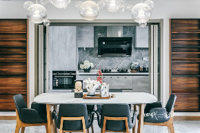 简约 现代 小资 收纳 四室 餐厅图片来自兄弟装饰-蒋林明在万科悦湾大平层设计,200平完工图的分享