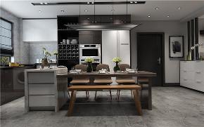 欧式 三居 餐厅图片来自晋级装饰官方在欧式风格:130现代风格的分享