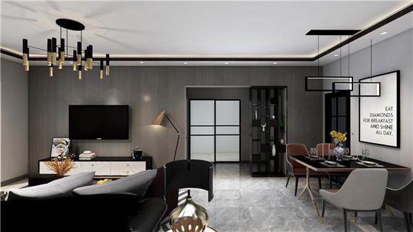 巧克力色个性定制茶几搭配原木镶边的皮质双椅,在灰色地毯的包容下让原本有些张扬的客厅空间从新找回来些内敛含蓄的感觉。