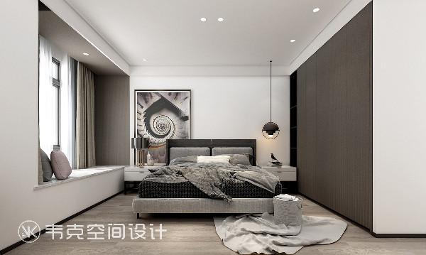 设计师挑选了舒适的极简轻奢意式床品,愿每个夜晚,都可以有一个轻柔的梦。主卧并没有做多余的装饰,其看似简约的外在往往有着非常丰富和精致的细节。