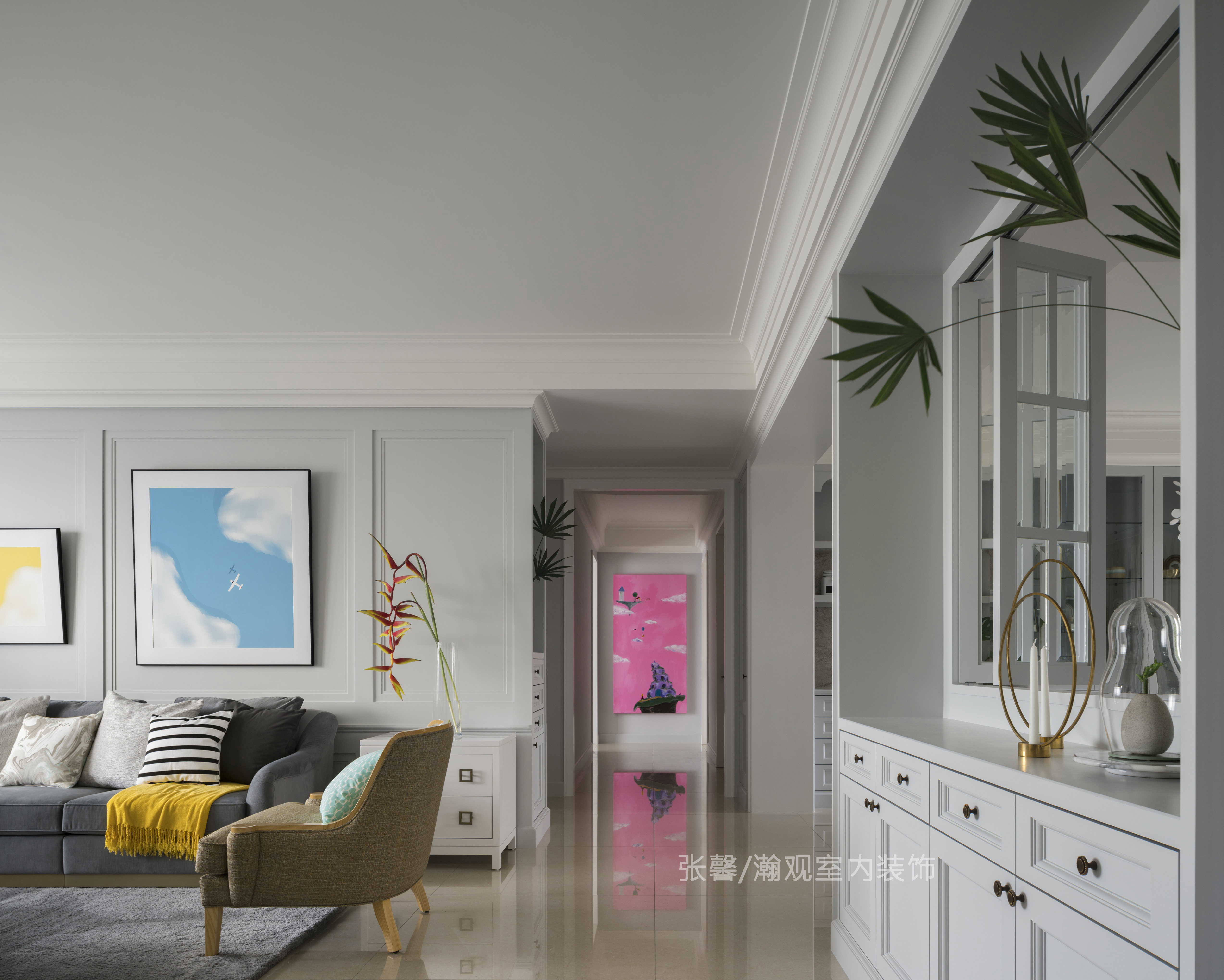 优雅 古典 美式 张馨 瀚观 客厅图片来自张馨/瀚观室内装饰在187㎡.机师与空姐的浪漫岛屿的分享
