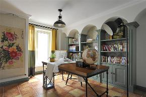 田园 三居 白领 收纳 旧房改造 80后 小资 书房图片来自今朝小伟在145平米田园的分享