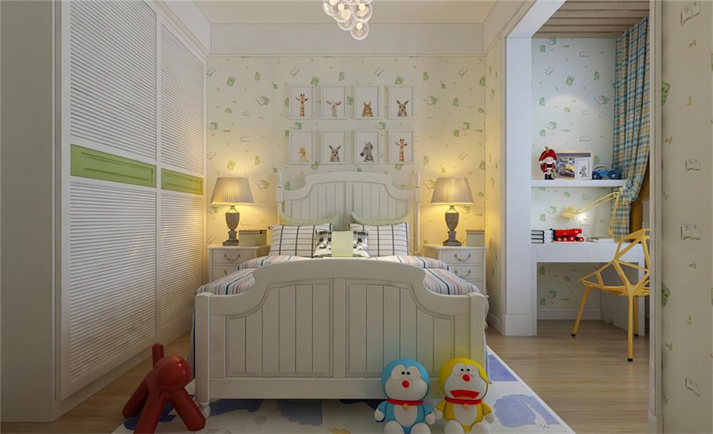 三居 别墅 白领 收纳 旧房改造 80后 小资 儿童房图片来自今朝小伟在143平米美式的分享
