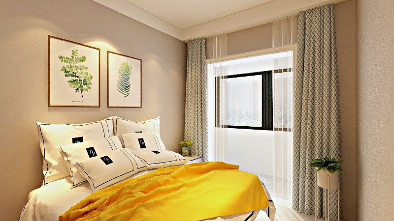 简约 三居 白领 收纳 旧房改造 80后 小资 卧室图片来自今朝小伟在滨河西里现代简约效果图的分享