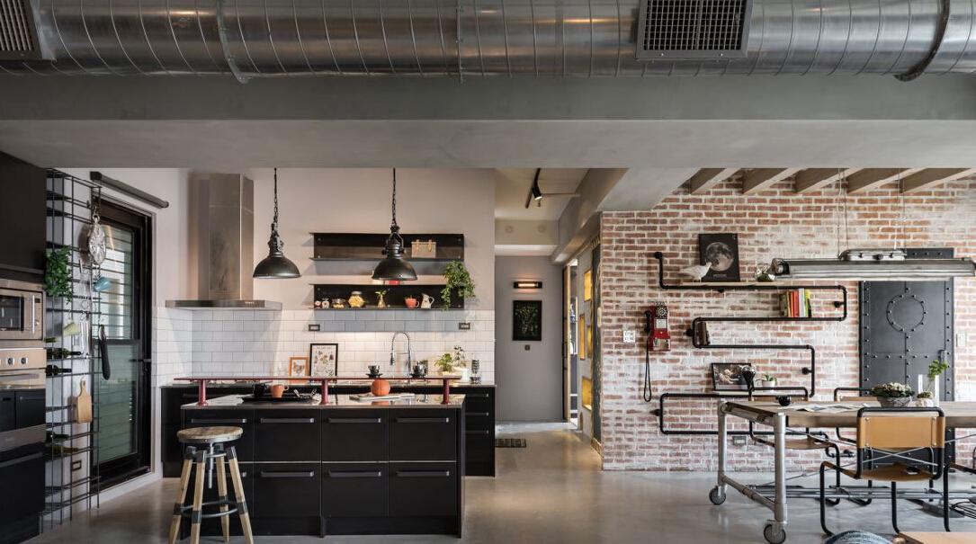 混搭 三居 白领 收纳 旧房改造 80后 小资 厨房图片来自今朝小伟在118平米复古混搭工业风的分享