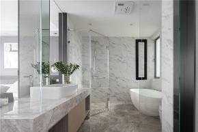 简约 三居 白领 收纳 旧房改造 卫生间图片来自今朝小伟在130平米精致大气的轻奢空间的分享