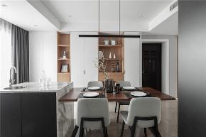 简约 三居 白领 收纳 旧房改造 餐厅图片来自今朝小伟在130平米精致大气的轻奢空间的分享