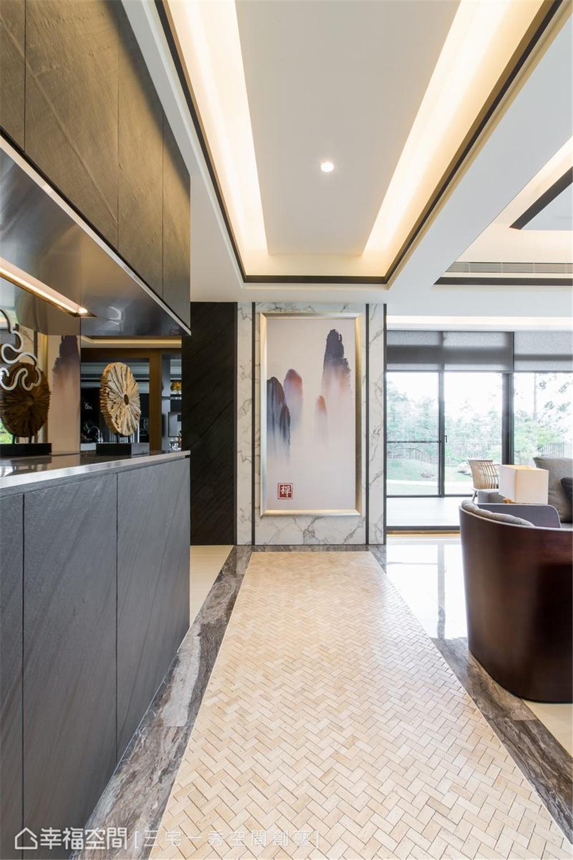 装修设计 装修完成 别墅 玄关图片来自幸福空间在662平,古朴京都×现代美学 别墅的分享