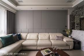 装修设计 装修完成 新古典 客厅图片来自幸福空间在119平,风雅入室 精雕新古典美学的分享