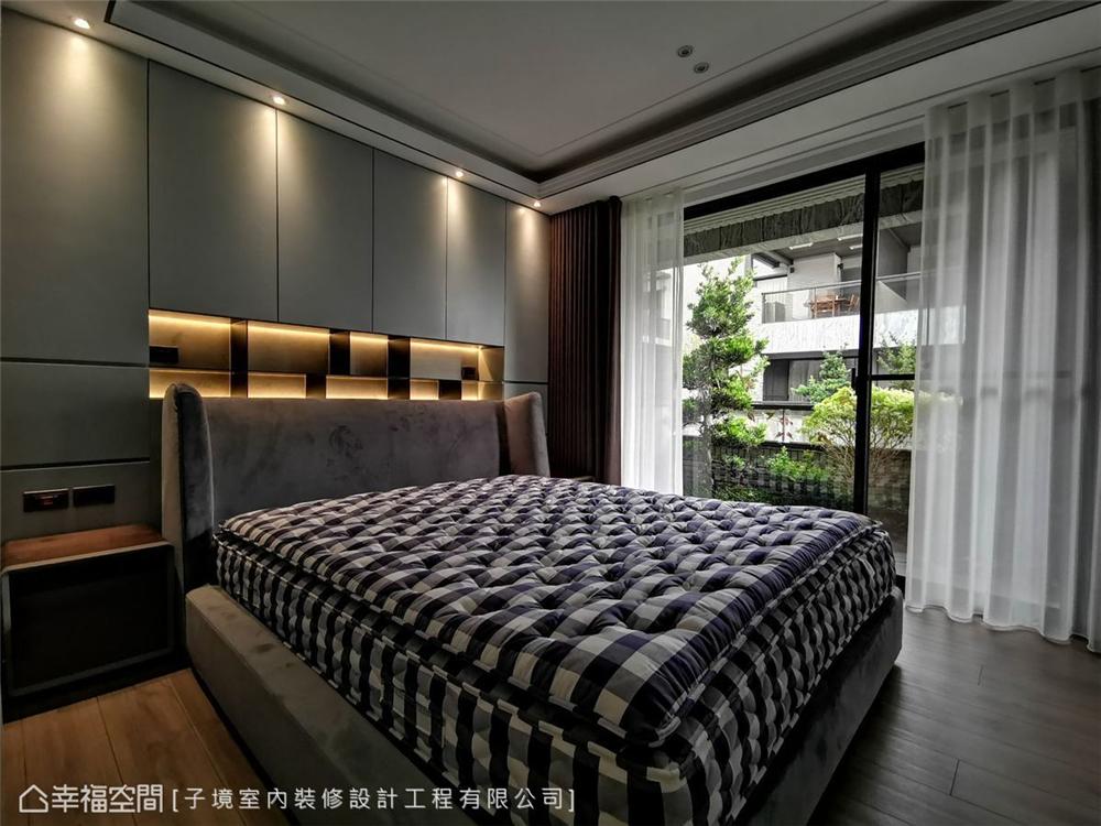 装修设计 装修完成 现代风格 卧室图片来自幸福空间在331平,现代沉稳舒适机能宅的分享