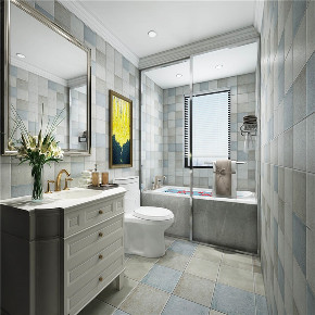 欧式 白领 收纳 旧房改造 80后 小资 二居 卫生间图片来自今朝小伟在法华南里北欧风格装修效果图的分享
