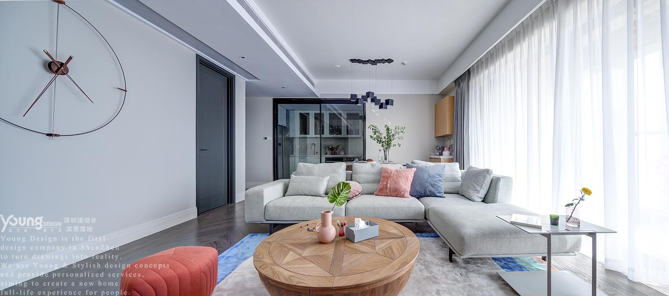 简约 小资 客厅图片来自漾设计在Young新作 | 华润城精装房改造的分享
