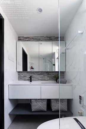 """三居 小资 收纳 卫生间图片来自漾设计在Young新作   """"顶上""""的诗意空间的分享"""