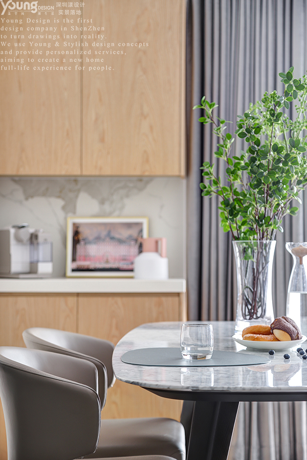 简约 小资 餐厅图片来自漾设计在Young新作 | 华润城精装房改造的分享