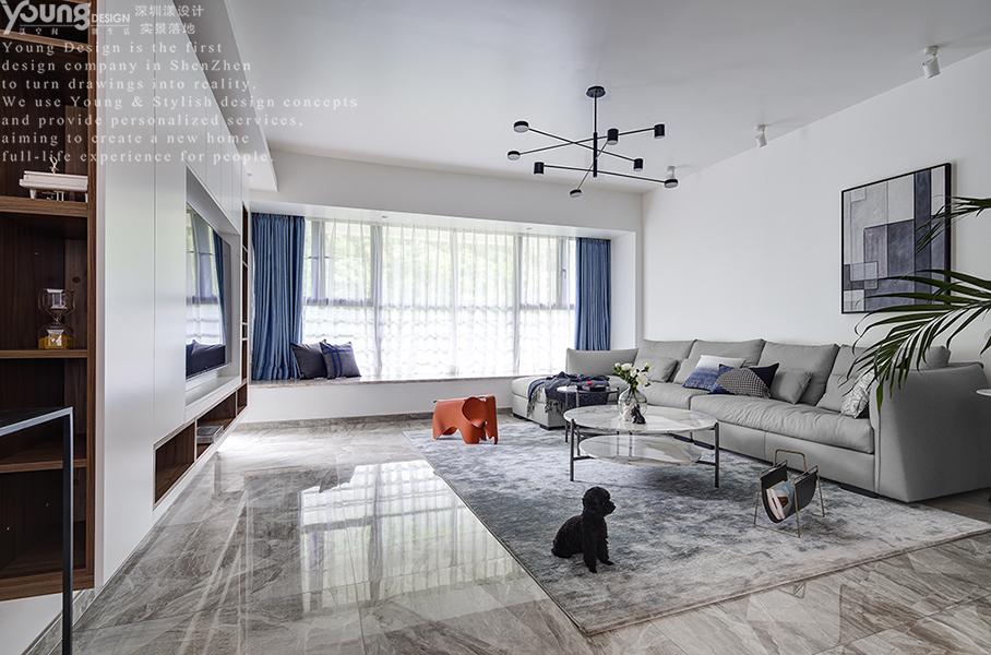 简约 三居 小资 旧房改造 客厅图片来自漾设计在Young新作 | 家中尽享舒适的分享