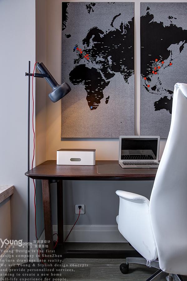 简约 小资 书房图片来自漾设计在Young新作 | 华润城精装房改造的分享